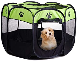 Gluckluz Pet Playpen Dog Tent Cat Kennel Puppy Foldable Bed House for Rabbit Small Medium Large Kitten Animals Indoor Outd...