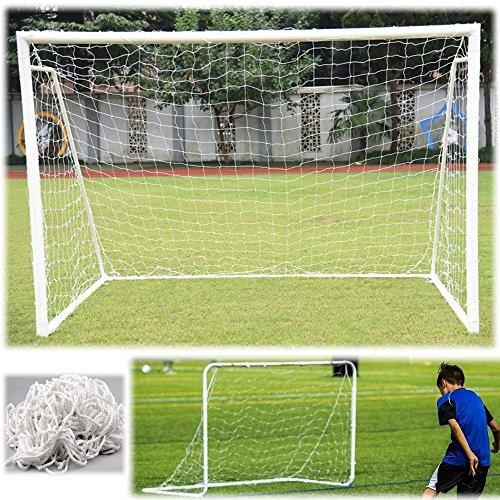 Fußball Tornetz langlebig Fußball Netz Ersatz Fußballtornetz für Torpfostenrahmen in Originalgröße Größe 6x4/8x6/12x6/24x8FT (8X6FT)