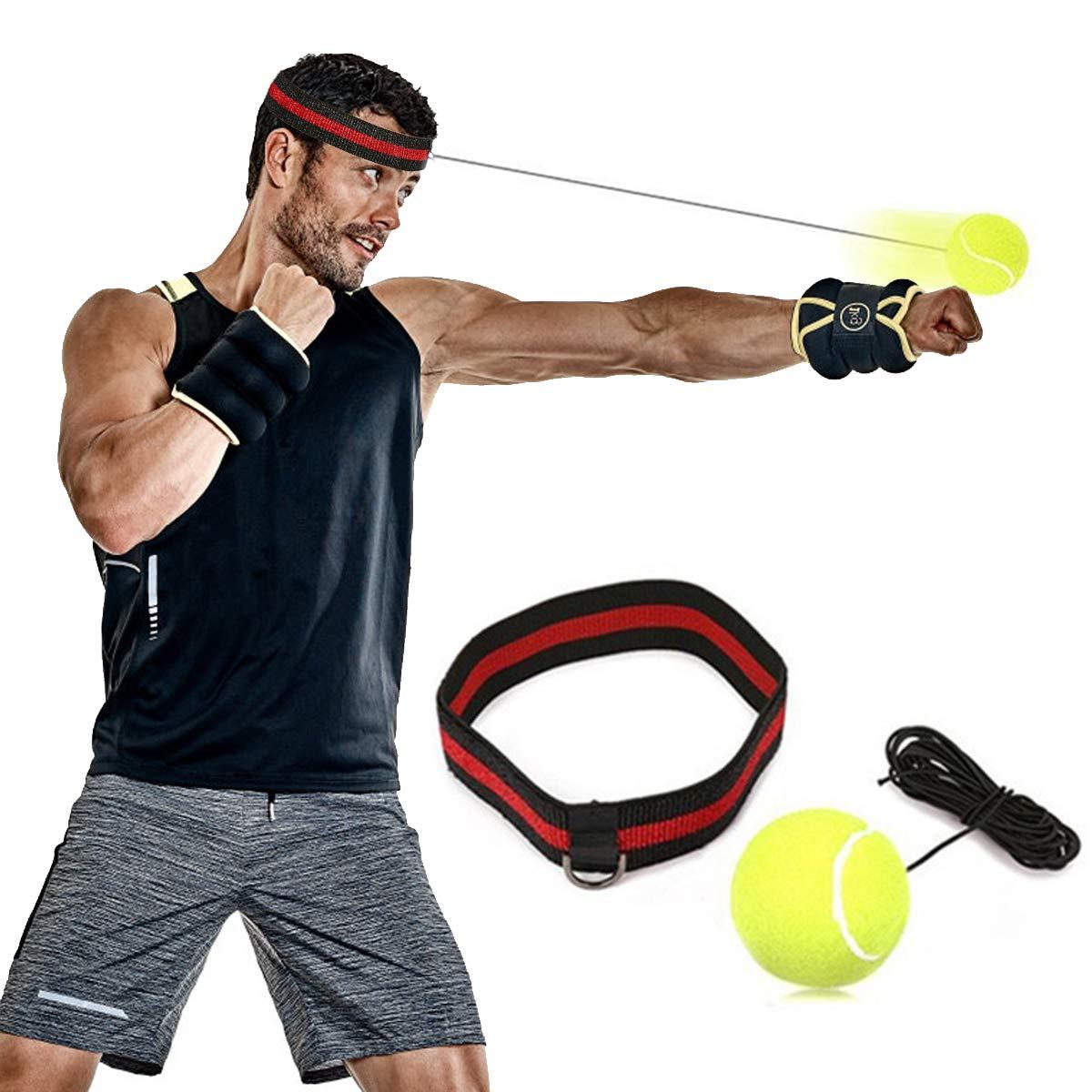 SGODDE Pelota de cuerda con diadema para boxeo: Amazon.es ...