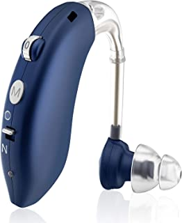 Hearing Aid, Enjoyee Hearing Aid for Seniors Rechargeable Hearing Amplifier with Noise Cancelling for Adults Hearing Loss ...