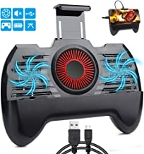 momen Mobile Game Controller, Phone Cooler for Pubg Fornite Phone Controller with 2200mAh Portable Charger, 4 in 1 Functions Game Controller with Phone Holder Black Color
