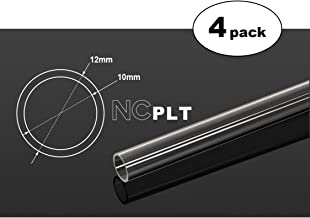 Bitspower None Chamfer PETG Link Tube, 12mm OD, 500mm, Clear, 4-Pack