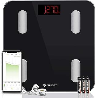 مقیاس Etekcity ، مقیاس چربی بدن هوشمند ، مقیاس وزن دیجیتال بلوتوث حمام 13 قطعه کلیدی تجزیه و تحلیل ، شیشه 6 میلی متر ضخیم ، همگام سازی با Fitbit ، Apple Health و Google Fit ، 400 پوند ، FDA تأیید شد