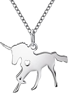 925 Sterling Silver Unicorn Pendant Necklace Dainty Unicorn Jewelry Best Gift for Girls