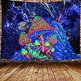 KHKJ Tapiz de Setas con Estampado Hippie, Tapiz artístico Colorido para Colgar en la Pared, decoración de Dormitorio, Tapiz de decoración del hogar, A2 200x150cm