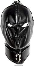MAMOHSS Leather Punk Gothic Full Face Gimp Unisex Hood Zipper Eyes Mouth Mask Halloween Costume Helmet