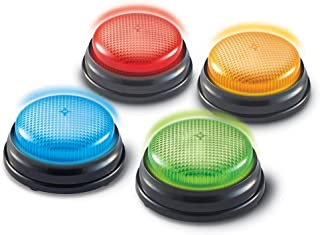Learning Resources Lights and Sounds Buzzers, Game Show and Classroom Buzzers, Set of 4, Ages 3+