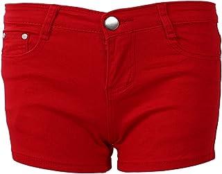 夏のデニムショーツ スリムフィットキャンディーカラーショートパンツ ショートジーンズ 女性のショーツ デニム 白 L=28
