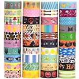 40 Rolls Pamapic Washi Tape Set , Decorative Tape Christmas Design, Great Glitter washi Tape for Planners, Arts, Crafts, DIY, Colored Masking Tape is fit for Little Boys & Girls (15mm, 40 Colors) …
