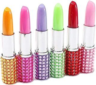 6× kentop Pintalabios forma bolígrafo de gel niña lápiz bolígrafo regalo ideal creativos regalos set (Colores al Azar)