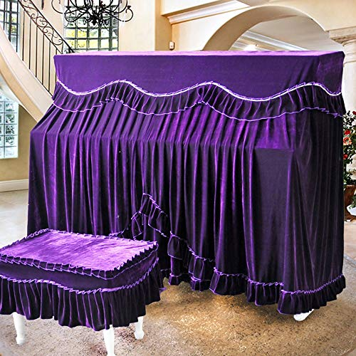 Best Bargain BWAM-hom Piano Keyboard Dust Cover Four Colors European Upright Piano Full Cover Flanne...