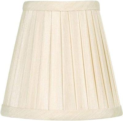 "Livex Lighting S316 Pleat Empire Silk Clip Chandelier Shade, 1"" x 1"" x 1"", Off White"