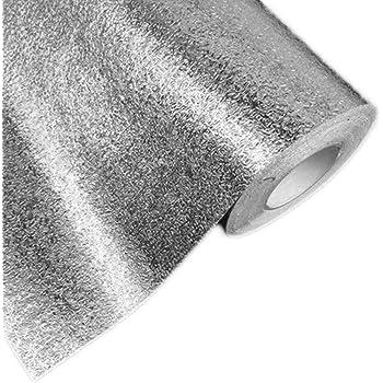 Peel et b/âton en acier inoxydable bross/é Contact papier autocollant film vinyle Shelf Liner pour couvrir pour Dosseret four lave-vaisselle Pantry Appliances 60 x 300 cm Silver