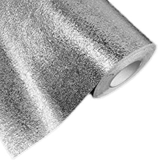 Hottong Kitchen Oil Proof Waterproof Sticker Aluminum Foil Kitchen Stove Cabinet Drawer Orange Peel Grain Self Adhesive Wallpaper,0.45M