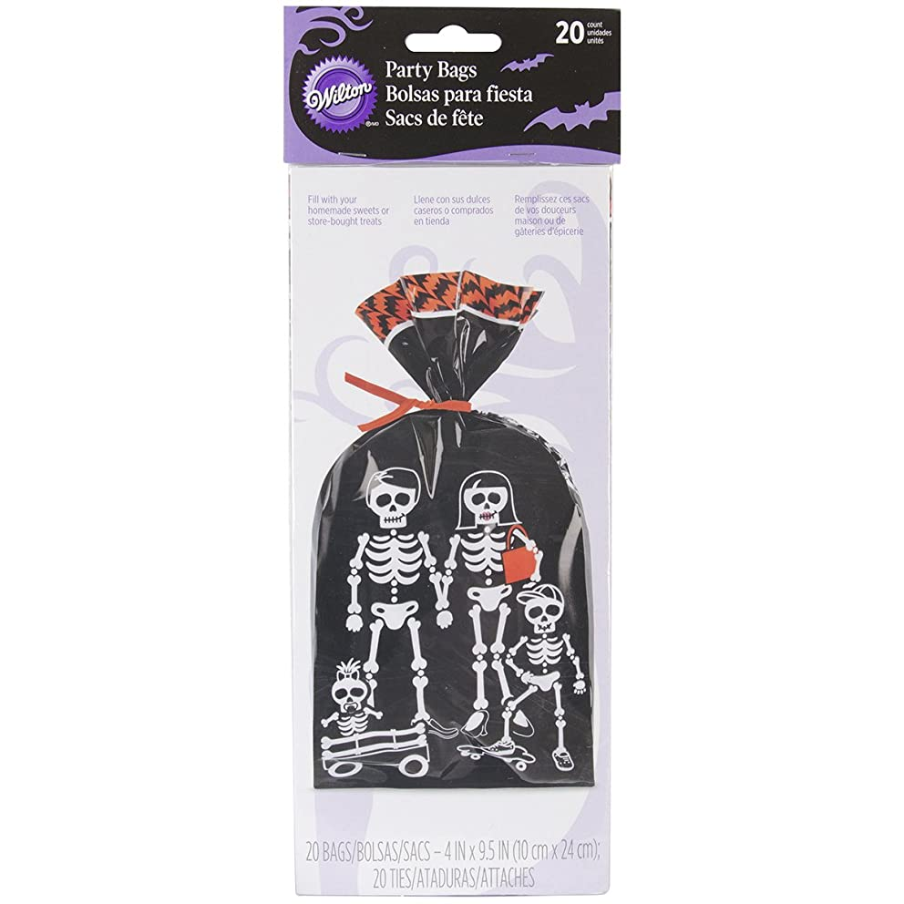 Wilton W0428 Party Bags, 4-Inch by 9.5-Inch, Grave, 20-Pack