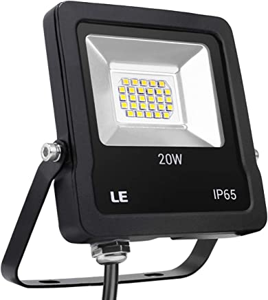 LE Foco LED de 20 W, 1600 Lúmenes, IP65 resistente al agua, Blanco Frío 5000 K, Floodlight Exteriores Interiores, Foco Proyector LED Ideal para Jardín, Garaje, Hotel, Patio, etc.