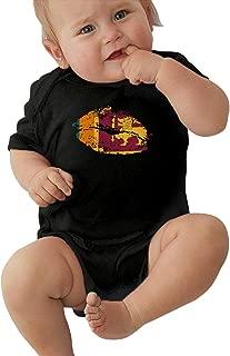 TAOHJS97 Baby Girls Sri Lanka Flag Lips Short Sleeve Climbing Clothes Playsuit, Suit 6-24 Months
