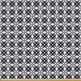 ABAKUHAUS Grau Stoff als Meterware, Retro einfache