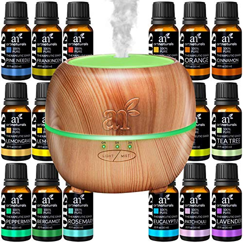ArtNaturals Aromatherapy Set 16 Essential Oils and 150ml Diffuser Tank