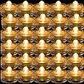 TDLTEK Waterproof submersible Led Lights Tea Lights For Wedding , Party, Decoration (36 Pieces Pink)