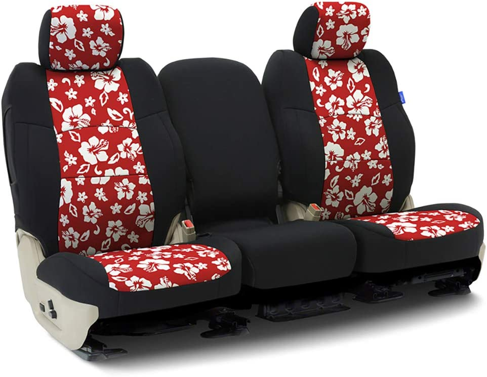 Seattle Mall Tailored Seat Covers Neoprene Hawaiian Black for OFFicial site with Sides Red