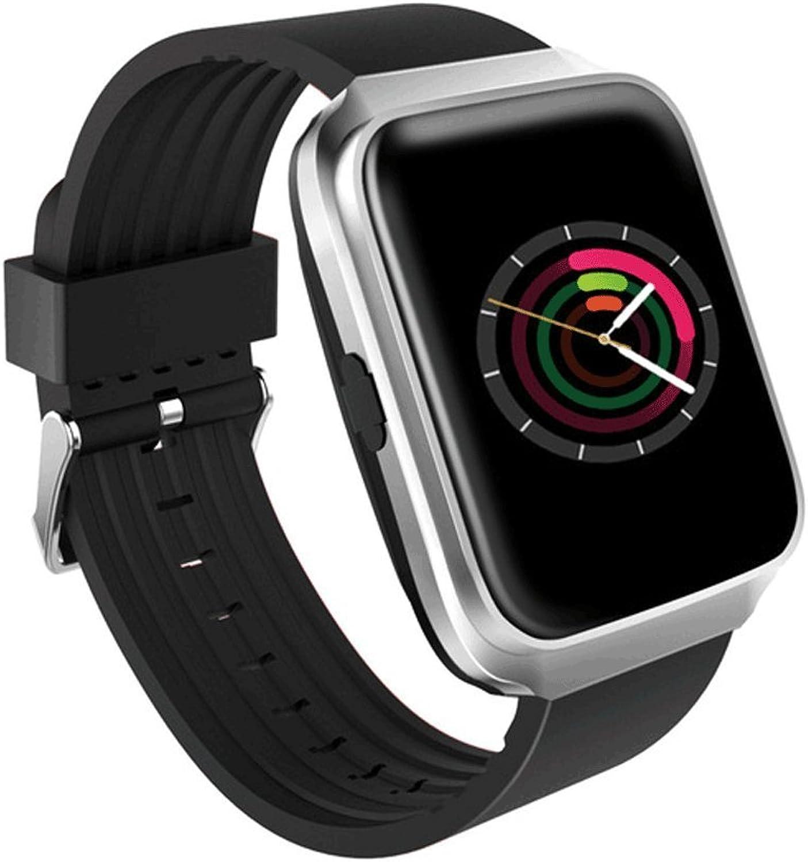 Zhangmeiren Smart Watch-Herzfrequenz-Blautdruckmessgert erinnert den synchronen SMS-Anruf des Erwachsenen-Blautooth-Sprachtelefons (Farbe   Silber)