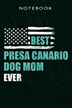 Travelers Notebook Best Presa Canario Dog MOM Ever Dog Lovers Meme: Mom, Refill for Travel Journal,Inserts Lined Paper, Ta...