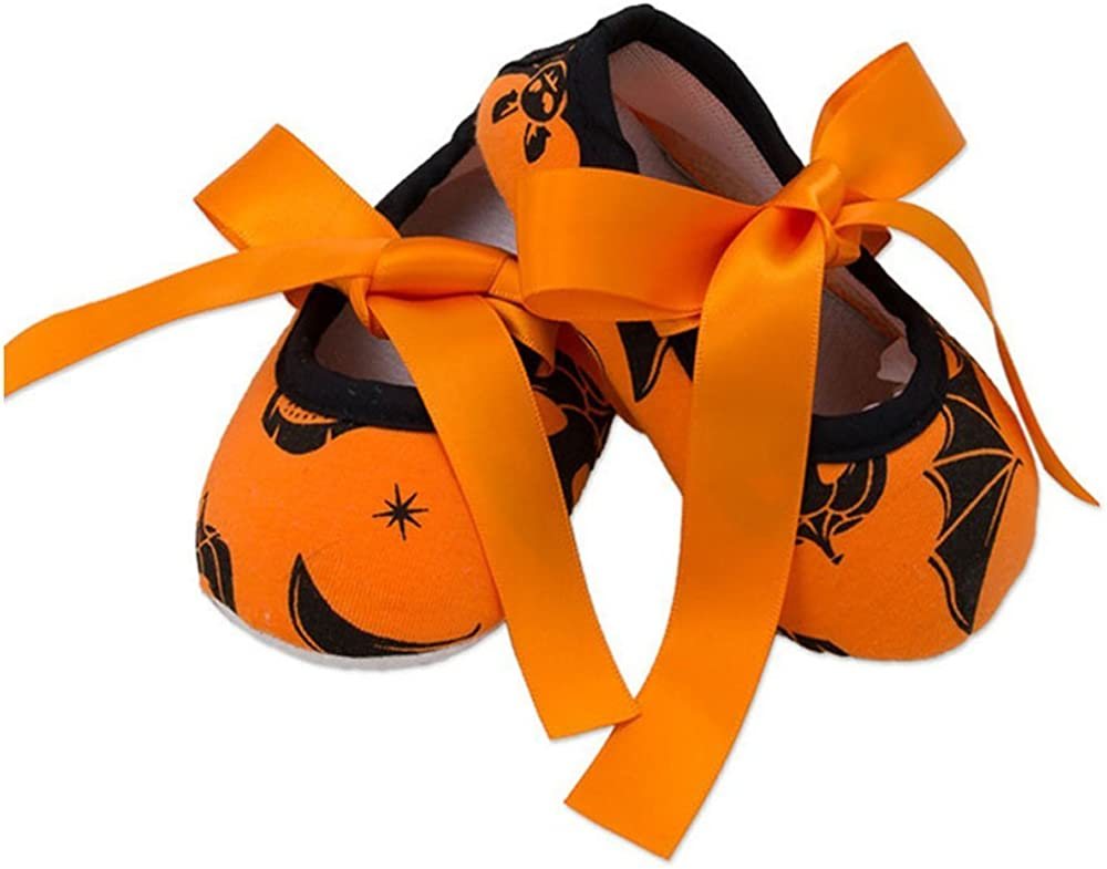 Halloween Christmas Baby Boys Girls Soft Sole Bowknot Mary Jane Princess Shoes
