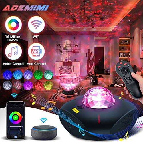 Star Projector,Galaxy Projector,Smart Star Light for Room with Bluetooth Speaker, WiFi Galaxy Sky Lights Work with Alexa,Ocean Galaxy Light for Baby Kids Room Cove Projector Decor for Teen Girls