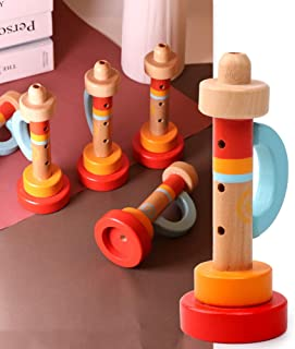 Anniston Kids Toys, Wooden Whistle Trumpet Portable Musical Instrument Baby Early Educational Toy Learning & Education Per...
