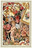 Rakka ヴィクトリアン エンジェル ポストカード同柄6枚セット ヴィンテージ キューピット カード オリジナルカード 天使 葉書 文房具 オフィス用品 封筒 はがき レター用品 ポストカード 絵柄付はがき Rakka RV02
