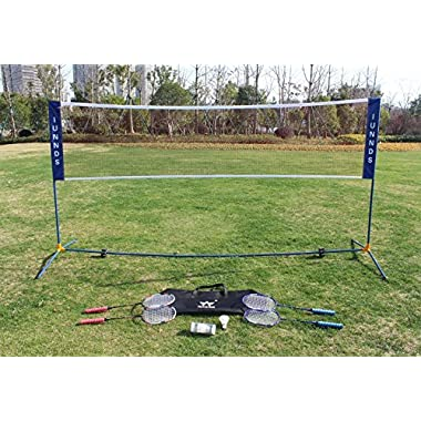 Sports God Height Adjustable Portable Large Volleyball Badminton Tennis Net Set with Stand/Frame (10 ft)