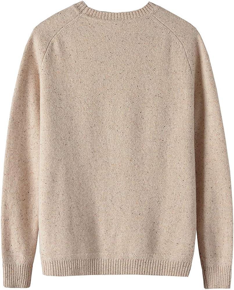 织礼 Zhili Men's Merino Wool Knit Cozy Solid Pullover Sweater