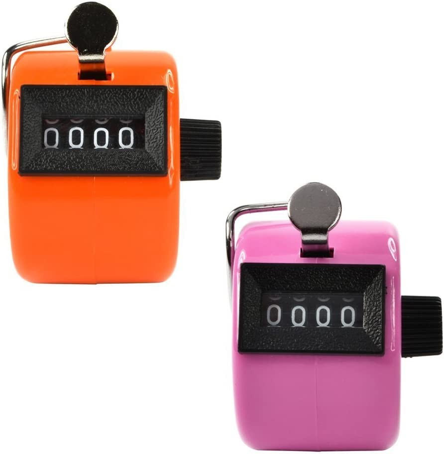 Kubert 2 San Francisco Mall Pack Mechanical Max 87% OFF Hand Handheld Count Tally Counter