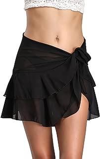 Womens Chiffon Beach Cover up Sarong Multi Wear Ruffle Pareo Canga Swimsuit Wrap