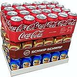 Coca Cola Original, Spezi & Schwip Schwap je 24 x 0,33l Dose XXL-Paket (72 Dosen gesamt)