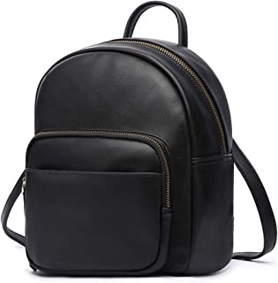 Backpack, Women's Shoulders Bag, Mini Daypack Satchel Crossbody Bag, Black