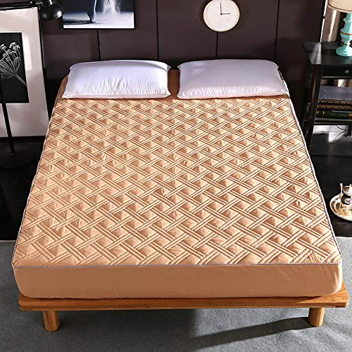 GTWOZNB Snugly Around Your Mattress Hypoallergenic, Breathable Bed Sheets Are Oh-So-Soft Thickened anti-skid bedspread single-camel_1.2 * 2m