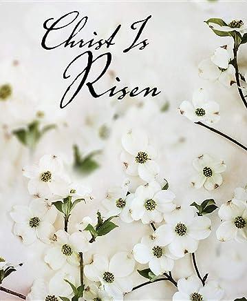 Christ Is Risen Dogwood Easter Bulletin: Package of 50