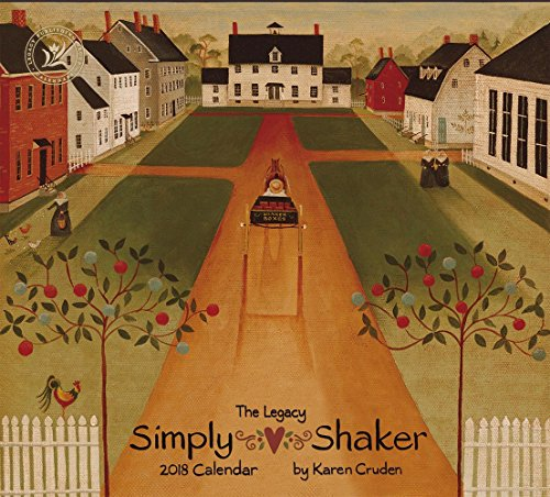 Legacy Publishing Group 2018 12-Month Wall Calendar, Simply Shaker