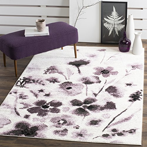 Safavieh Adirondack Collection ADR127L Ivory and Purple Vintage Floral Area Rug (3' x 5')