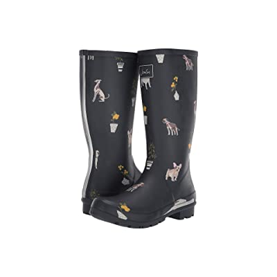 Joules Roll Up Welly (Grey Dogs) Women
