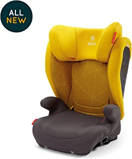 Diono Monterey 4 DXT Latch, The Original Expandable Booster Seat, 40 - 120 lbs, Yellow Sulfur