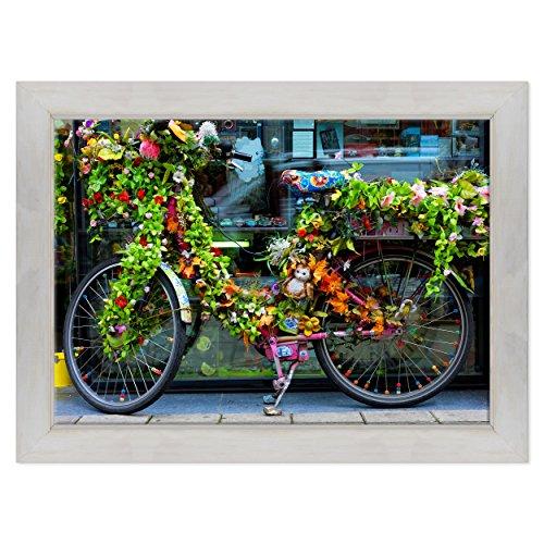 ConKrea Quadro SU Canvas – geïnspireerd – uitstekend – Holland – Amsterdam – kinderfiets met bloemen