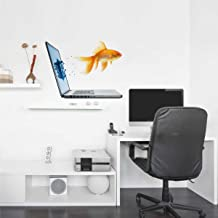 Rawpockets 'Fish Out of Laptop Abstract' Wall Sticker (PVC Vinyl, 0.99 cm x 60 cm x 45 cm)