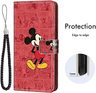 DISNEY COLLECTION Samsung Galaxy Note 10, Galaxy Note 10, Wallet Case Wallpaper Tv Show Comics Cute Movies Mickey Clubhouse Mouse Shockproof Bumper Credit Cards Kickstand Protective Cover Protect