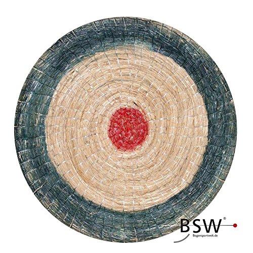 Runde Strohscheibe Deluxe - Ø 65 cm - Zielscheibe - Farbe: blau-rot + Holzständer S170; Zubehör für Bogenschießen, Pfeil und Bogen, Bogensport