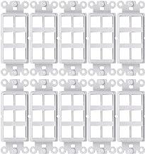 FolioGadgets 10-Pack Decora QuickPort Wall Plate Fits Standard Keystone Insert, 6-Port