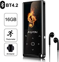 "$36 » MP4 Player, Aigital Portable 16GB MP4/MP3 Music Player with Bluetooth, Pedometer/Video/Voice Record Function and More, HiFi Sound Quality & Upgraded 2.4"" Screen, Support Expand to 128GB Memory"