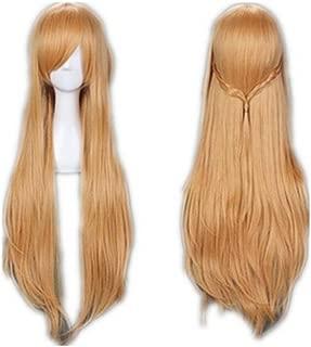 Women 100cm/39.37'' Golden Anime Cosplay Heat Resistant Halloween Cosplay Hair Wig